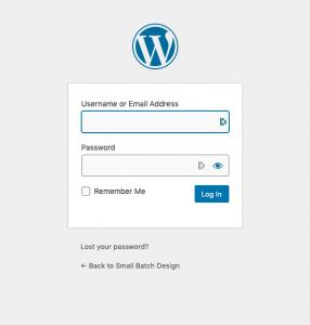 Image of WordPress Login Screen